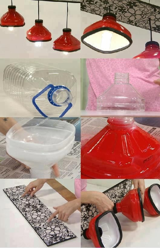 Retro lamp from plastic bottles by Agustina Gallo
