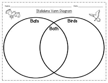 Stellaluna Venn Diagram Bats and Birds Compare Contrast