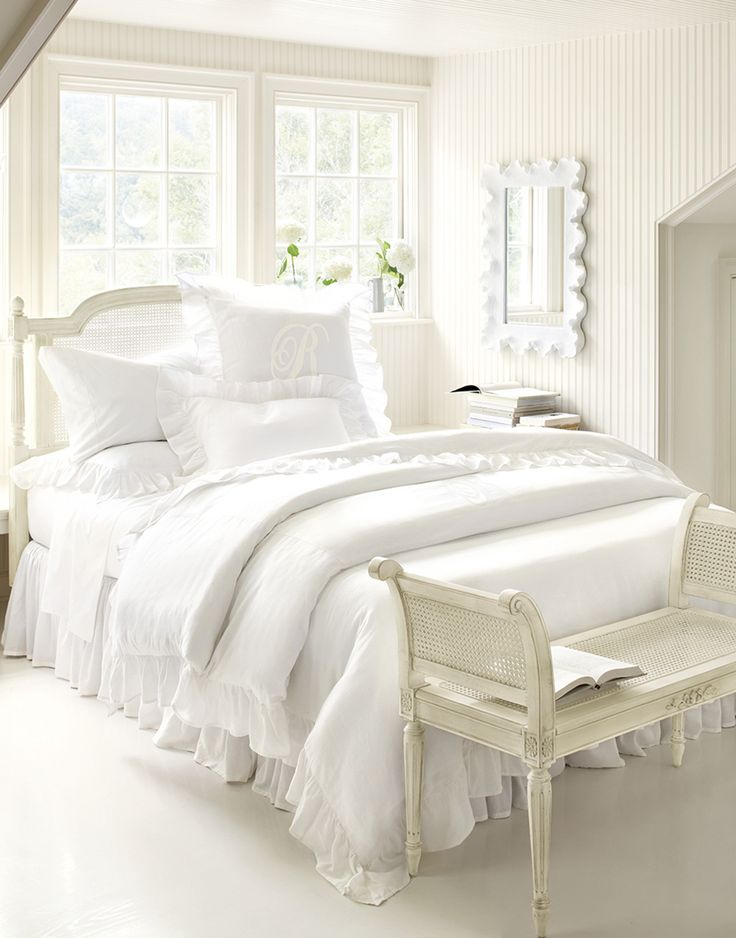 All white bedroom from Ballard Designs