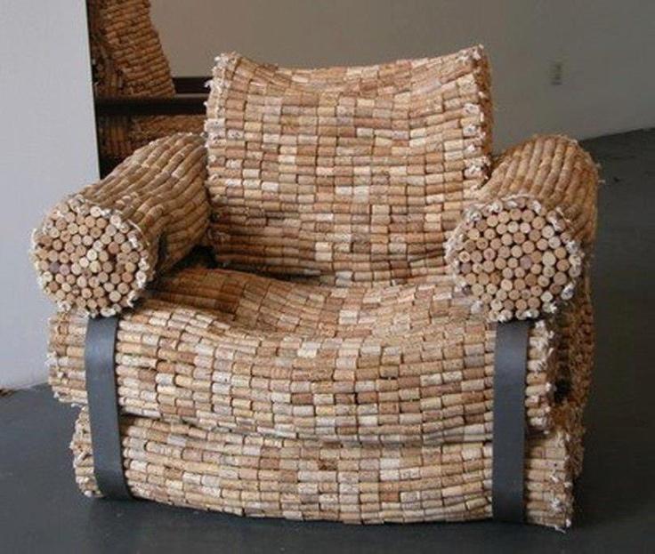 cork chair  Wine Corks  Pinterest