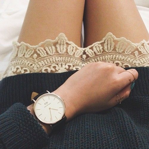 I don't typically go for big faced watches, but the simplicity of the watch and it's ability to compliment the skirt makes for a great pair.