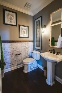 Accent wall for the bathroom | Bathroom ideas | Pinterest