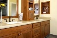 Craftsman style bathroom cabinets.   Sandy Bay House ...
