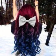 cute dip dyed hair style