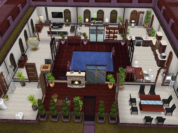 Jacuzzi Center Home Thought This Was Cool Idea Sims Freeplay