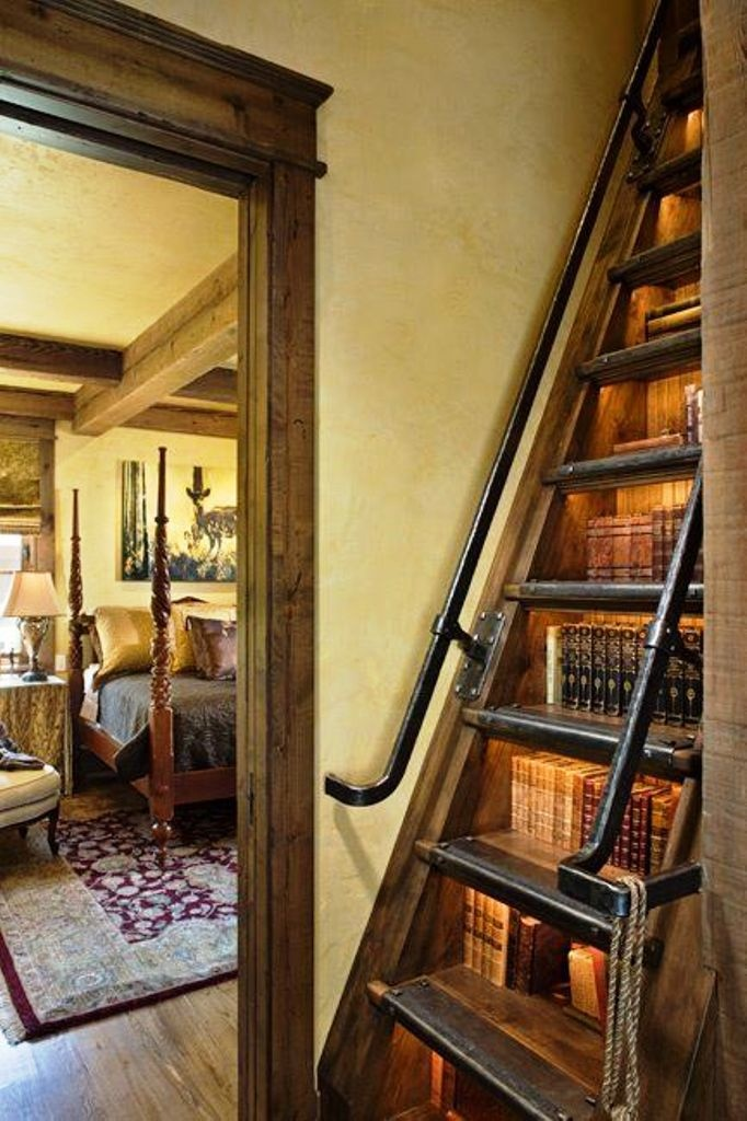 Bookcase Stairs Bookcase/staircase | Homecoolness | Pinterest
