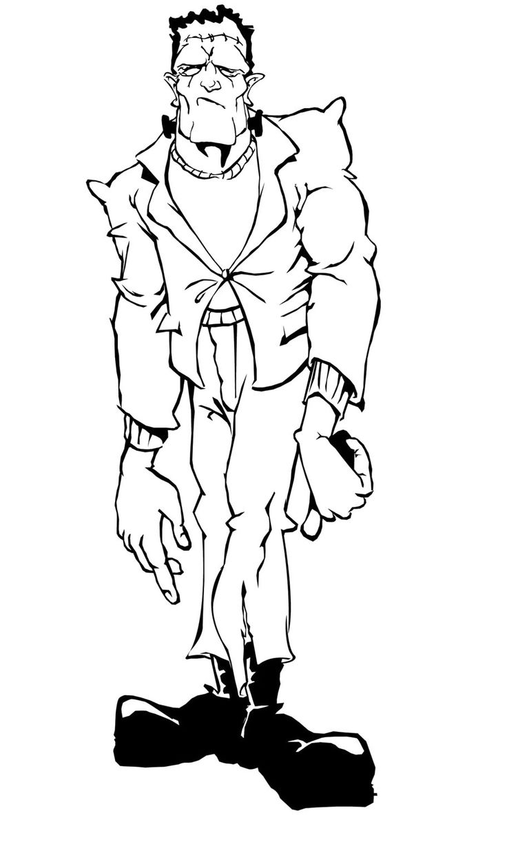 Frankenstein Full Body Coloring Pages