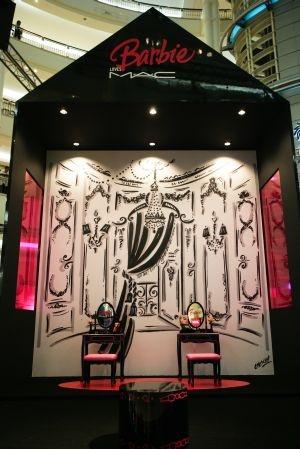 Barbie M.A.C. display
