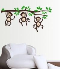 Monkeys On A Branch wall decal sticker medium