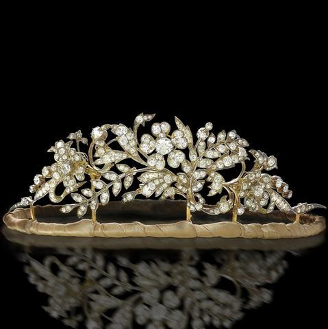 A 19th century diamond tiara, circa 1850