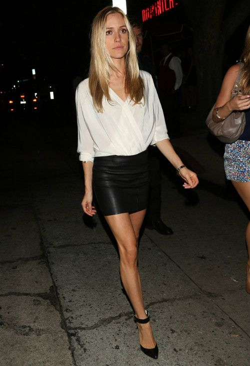 Kristin Cavallari wearing  Cartier Love Bracelet Chinese Laundry Celestial Pumps  Houston nightclub in Los Angeles August 21 2013