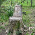 Highlights post tree stump art ideas