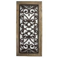 Metal & Wood Scroll Work Wall Plaque Beauty Elegant Home ...
