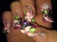 blinged out nail art | Tip designs | Pinterest