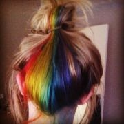cute secret rainbow hairs