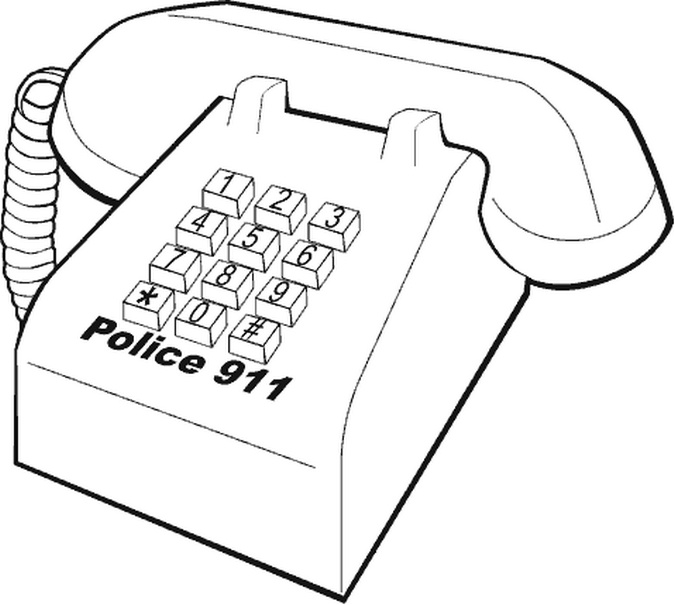 911 Coloring Sheets Coloring Pages