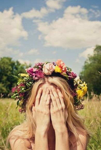 Flower crowns and romping in fields...