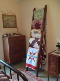 Primitive Ladder Quilt Rack Plans DIY Free Download make