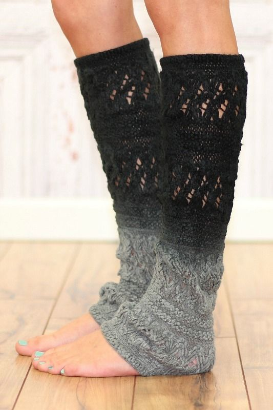 Charcoal Ombre Leg Warmer