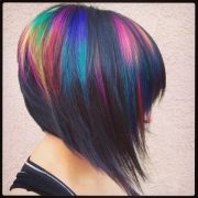rainbow highlights hair
