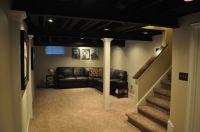 painted joist basement ... Black ceiling | More home decor ...