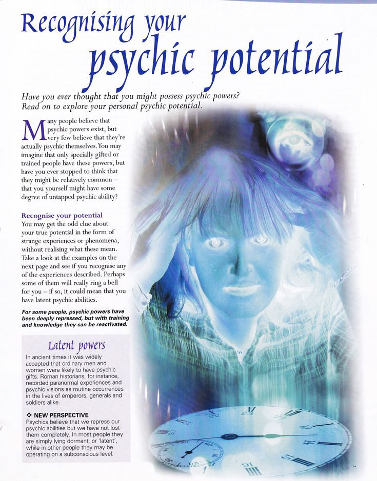 Recognising your psychic potential