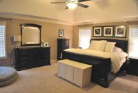Master bedroom with black and tan color palette | Espresso ...