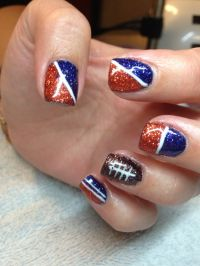 Pin Denver Broncos Nail Art Beautiful Womans Portal on ...