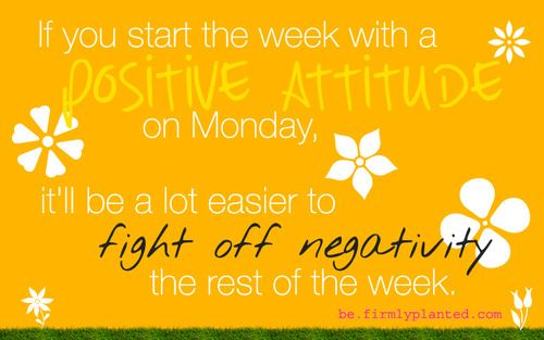 Starting off #monday with a #positive message