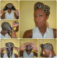 wrapping hair with a silk scarf