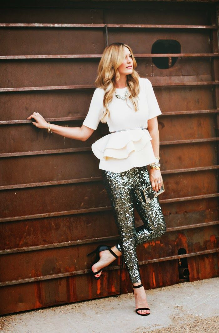 sequined leggings. yes, please!