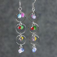 Colorful dangling hoop earrings handmade ani designs