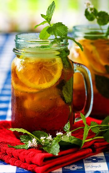 Vintage Rose Garden - beat the heat with ice tea.