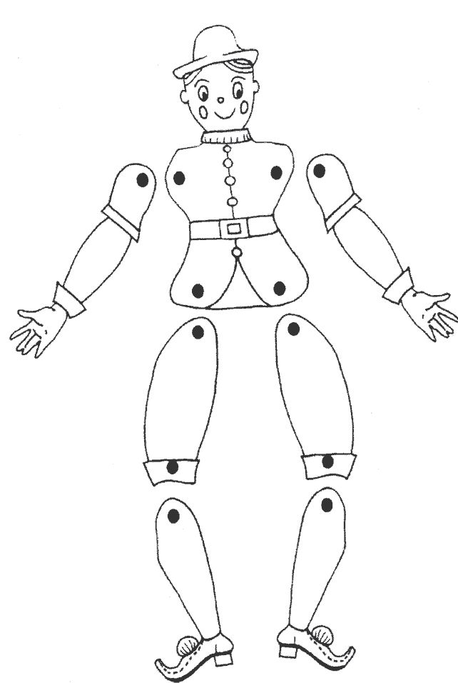 String Puppet Page Coloring Pages