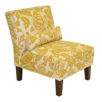 Target Canary print slipper chair | Client 1 - Yellow ...