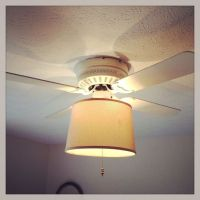 ceiling fan light to lamp shade | For the Home | Pinterest