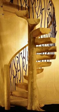 Tree Spiral Staircase 03 - LogStairs.com | Flat | Pinterest