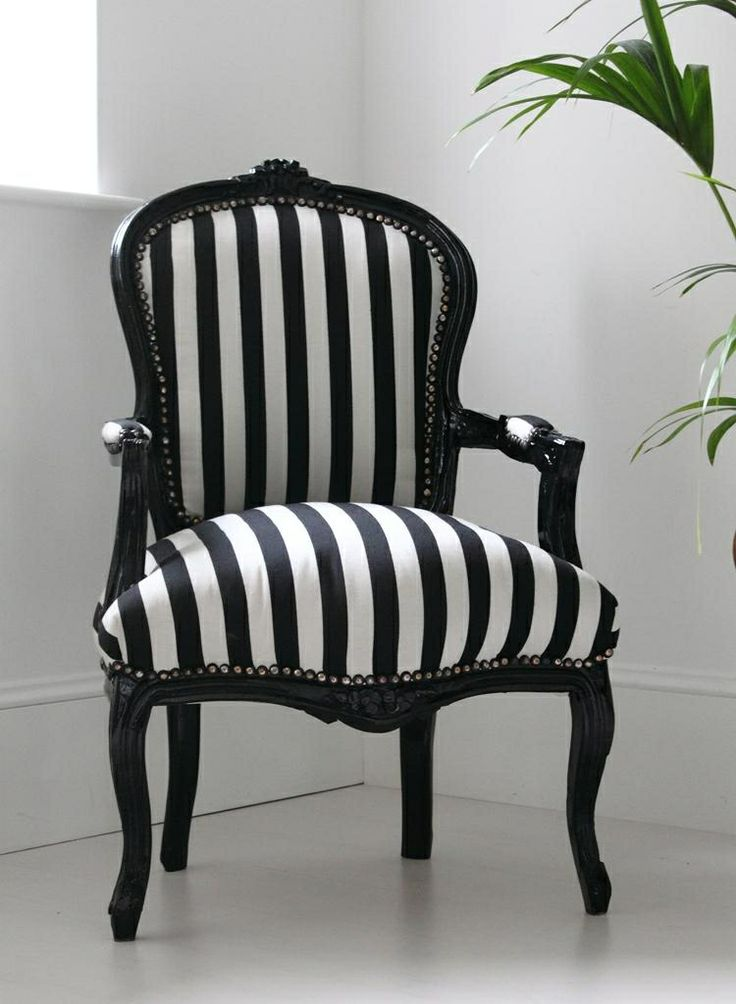 French black and white arm chair  Chairssofas  Pinterest