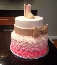 Living Room Decorating Ideas: Rustic Baby Shower Cake Ideas