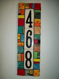 Handmade Ceramic House Number Address Tile and Plaque