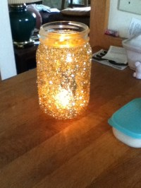 Mason jars & glitter candle holders | Made it | Pinterest