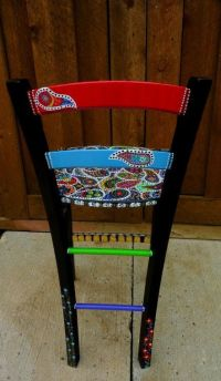 Hand painted funky chairs to order.