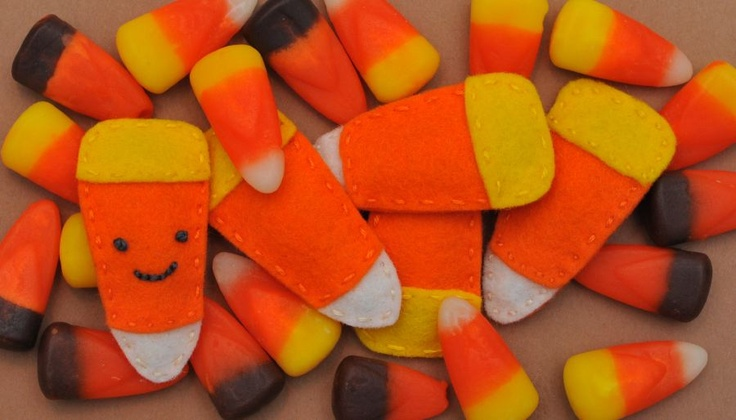 Candy Corn barrettes  Felt barrettes  Pinterest