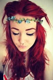 bucket list dye hair red velvet