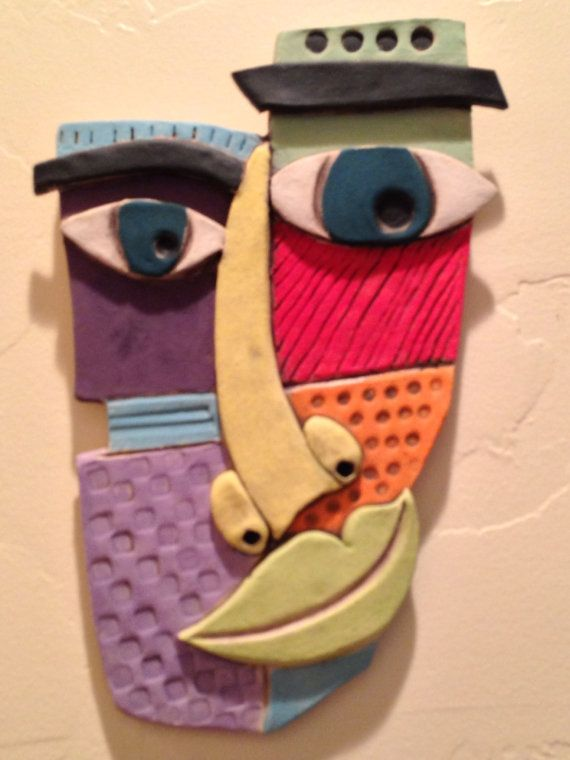 Abstract  Ceramic Face by WildNanny