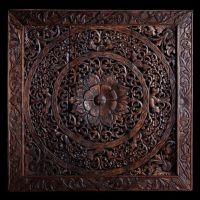 Hand Carved Wall Panel made from Teak Wood / Hanging Wall