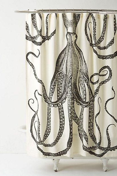 Octopus Garden Shower Curtain  #anthropologie