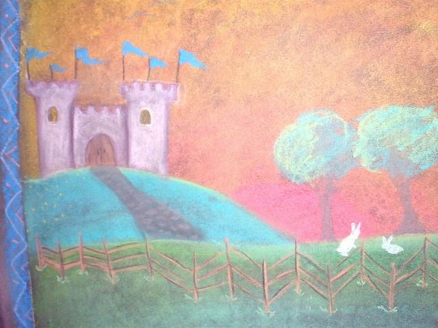 Castle chalkboard drawing