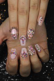 swarovski crystal nail art nails