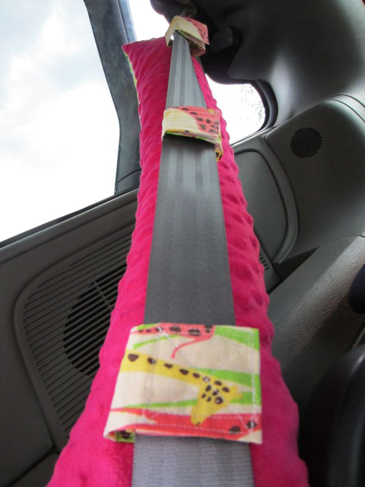 Seat Belt Pillow with pocket  DESIGN YOUR OWN  Made To Order